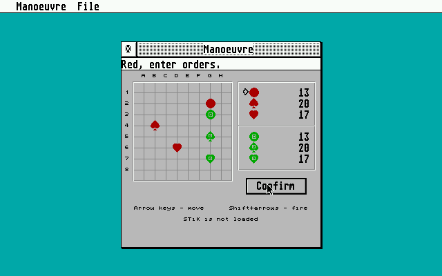 Manoeuvre for GEM atari screenshot